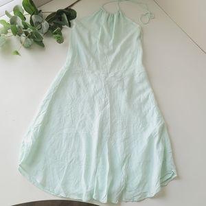 Aritzia Wilfred Free Ariane halter mini dress